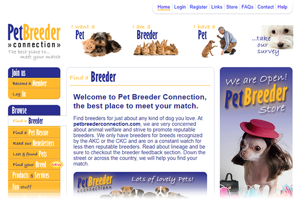 Pet breeder Connection